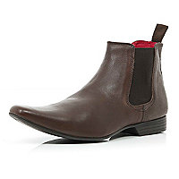 Boys dark brown Chelsea boot