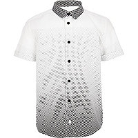 Boys white spot shirt
