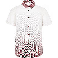 Boys red spot shirt