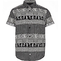 Boys mono egyptian print shirt