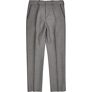 Boys grey silver suit trousers