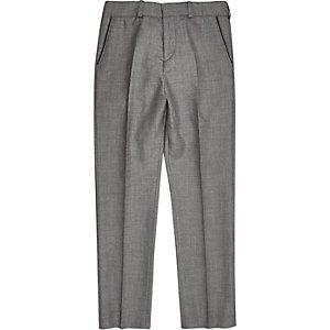 Boys grey silver suit pants