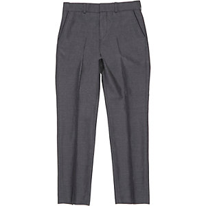 Boys grey charcoal suit trousers