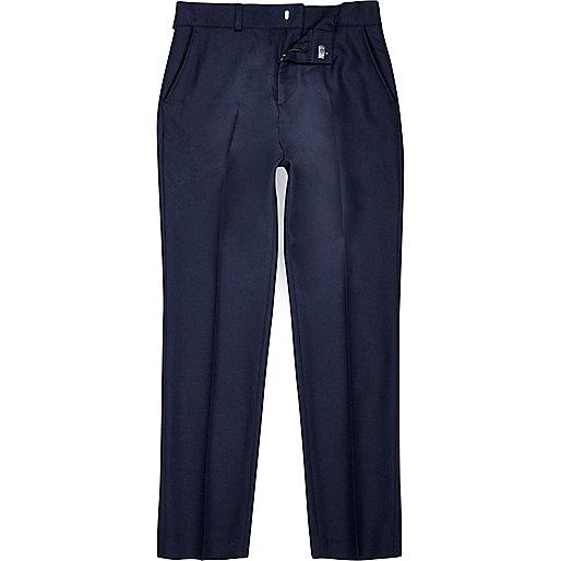Boys navy blue suit trousers