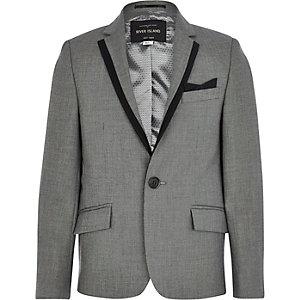 Boys grey silver suit blazer