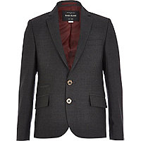 Boys grey charcoal suit blazer
