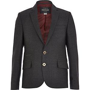Boys grey charcoal suit blazer