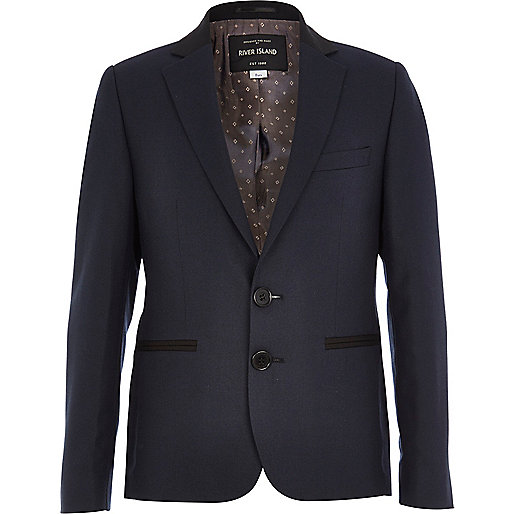 Boys navy blue suit blazer