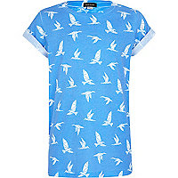 Boys blue origami print t-shirt