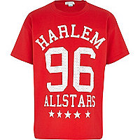 Boys red Harlem 96 mesh t-shirt