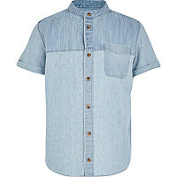 Boys denim grandad shirt