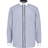 Boys blue pinstripe smart shirt