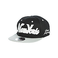 Boys black and grey New York snapback hat