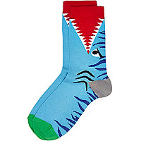 Boys blue animal socks