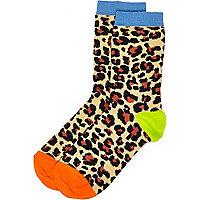 Boys leopard print socks