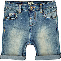 Mini boys medium wash denim shorts
