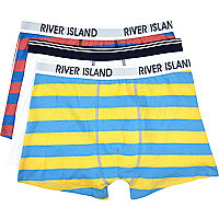 Boys blue stripe 3 pack underwear