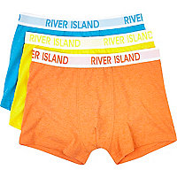 Boys orange 3 pack underwear