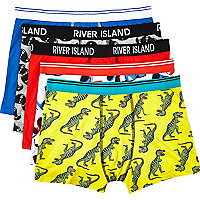 Boys yellow dinosaur 5 pack underwear