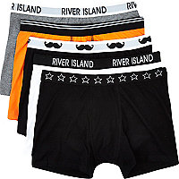 Boys black mixed 5 pack underwear