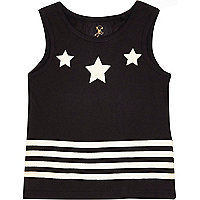 Mini boys black stars and stripes vest
