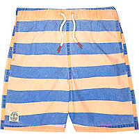 Boys orange stripe swim shorts