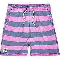 Boys purple stripe swimshorts