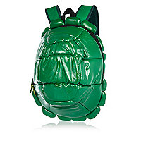 Boys green turtle shell rucksack