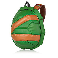 Boys green small turtle shell rucksack