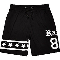 Boys black basketball jersey shorts