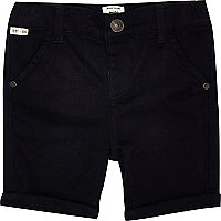 Mini boys dark blue chino shorts