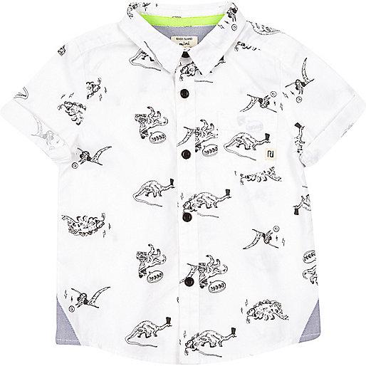 Mini boys dinosaur print shirt