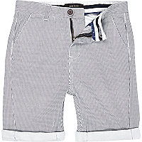 Boys white stripe chino shorts