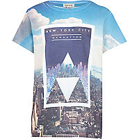 Boys white Manhattan print t-shirt