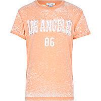 Boys orange Los Angeles burnout t-shirt
