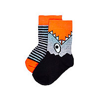Mini boys shark 2 pack socks