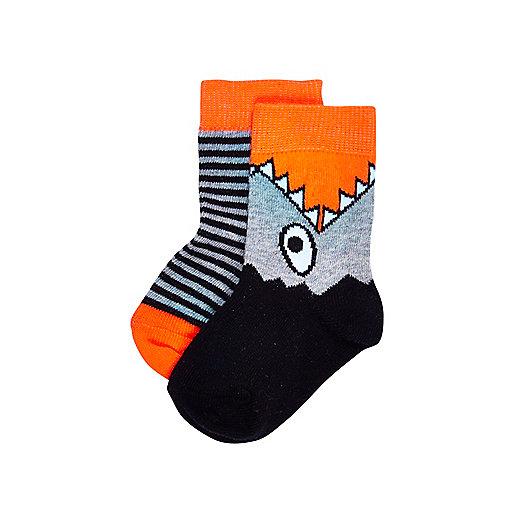 Mini boys shark 2 pack socks
