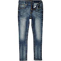 Boys blue medium wash skinny denim jeans