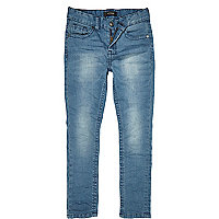 Boys blue denim skinny jeans
