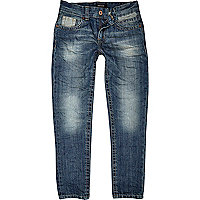 Boys medium wash straight leg denim jeans