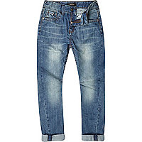 Boys blue medium wash denim jeans