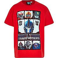 Boys red Transformer print t-shirt