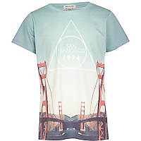 Boys white San Francisco bridge print t-shirt
