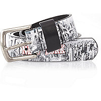 Boys NYC print belt