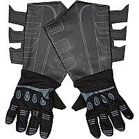 Boys black Batman gloves