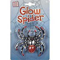 Boys black glow in the dark spider