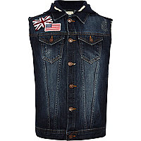Boys sleeveless denim jacket