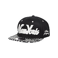 Boys black and grey aztec snapback hat