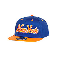 Boys blue and orange snapback hat