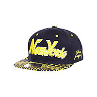 Boys blue and yellow aztec snapback hat